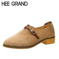 HEE GRAND Skinny Buckle Strap Women's Oxford Shoes