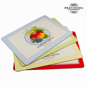 Set of 4 placemats  - Kitchen's Deco Collection by Bravissima Kitchen