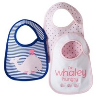 Just One You™Made by Carter's® Newborn Girls' 3 Pack Whale Bib Set - Pink/Blue