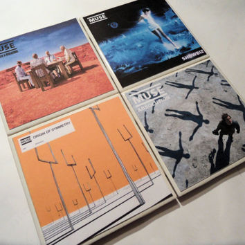 Muse Album Cover Ceramic Coasters set of 4 by myevilfriend