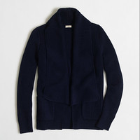 Factory shawl-collar cardigan sweater