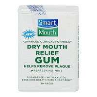SmartMouth Dry Mouth Relief Gum, Sugar-Free with Xylitol, Mint