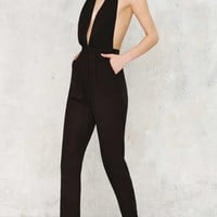 Not Your Baby Plunging Jumpsuit