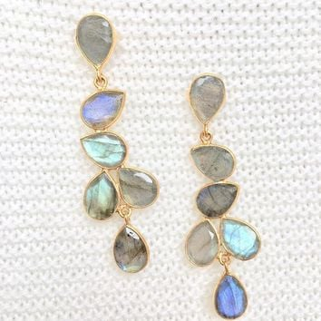 Jackie Labradorite Multi Drop Earrings