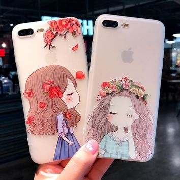 Fashion  Case for iphone 8 Plus Silicon Cover Lovely Cat Case for iphone 6s 6 Plus iphone 7 8 plus case