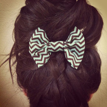 Chevron Hair Bow