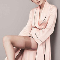 Hot Pink Long Sleeve Sexy Satin Silk Robe Bathrobe Kimono Dressing Gowns For Women Bridesmaid Sleepwear Pajamas Nightgown Nightwear D60575