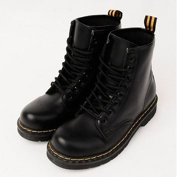 Vegan Leather Marten Boots