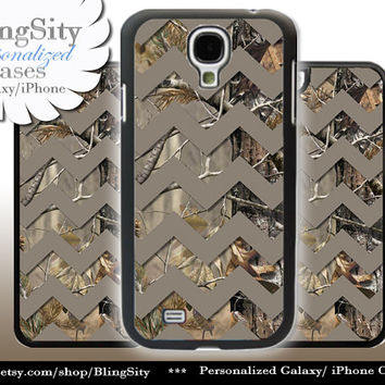 Camo Brown Chevron Galaxy S4 case S5 Real Tree Camo Deer Personalized RealTree Samsung Galaxy S3 Case Note 2 3 Cover