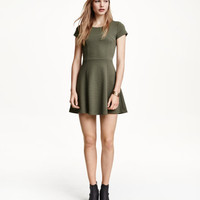 Textured-knit Dress - from H&M
