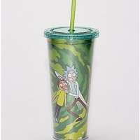 Rick and Morty Cup with Straw - 24 oz - Spencer's