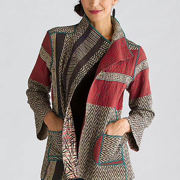 Soho Bamboo Short Jacket by Mieko Mintz (Cotton Jacket) | Artful Home