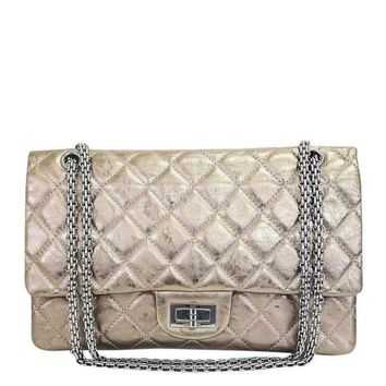 Chanel Metallic Leather 2.55 Reissue Jumbo Classic Shoulder Bag