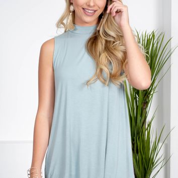 Mock Neck Bamboo Top | Colors