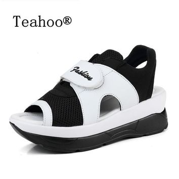 2017 Fashion Summer Women's Sandals Casual Sport Mesh Breathable Shoes Woman Comfortab