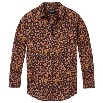 SCOTCH & SODA | Printed Button Down Shirt - Leopard