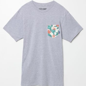 Vans Vintage Aloha Pocket T-Shirt - Mens Tee - Grey