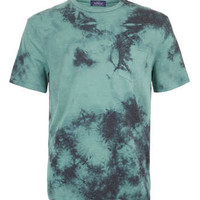 GREEN DOUBLE WASHED T-SHIRT - Men's T-Shirts & Vests - Clothing