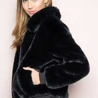 Georgina Fur Bomber Jacket - Outerwear - Clothing
