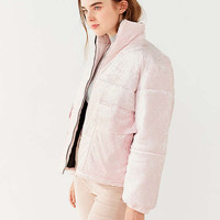 House Of Sunny Velvet Puffer Jacket | Urban Outfitters