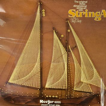 Vtg 1975 Ship Shop String Art Kit Reefer Model 6055 Sealed 3D