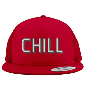 Funny Netflix And Chill Embroidered Trucker Hat