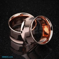 Real Rose Gold Plated Ear Gauge Tunnel Plug
