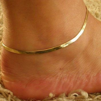 ONETOW The new metal chain snake chain bracelet anklet
