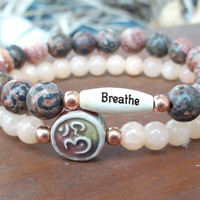CHOOSE YOUR WORD Yoga Inspired Om Bracelet