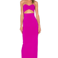 SOLACE London Goldie Maxi Dress in Purple