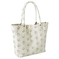 Mossimo Supply Co. Cat Print Tote Handbag - Ivory