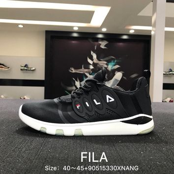 FILA Fshion Black White Men Sports Running Shoes Sneaker