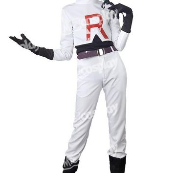 Anime New Hot  Team Rocket James Cosplay Halloween Party Costume ClothingKawaii Pokemon go  AT_89_9