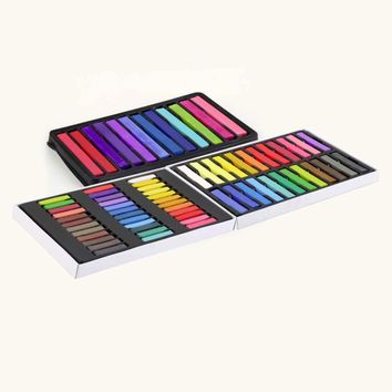 1 set 24 Colors Non-toxic Temporary Pastel Hair Square Hair Dye Color Chalk Hot Selling