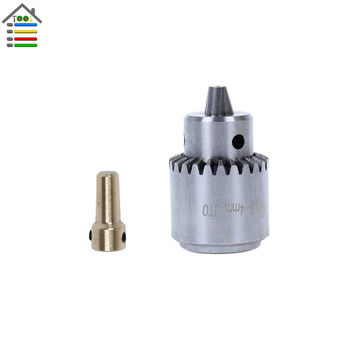 Mini Electric Drill Chuck 0.3-4mm JTO Taper Mounted Lathe For 3.17 Motor Shaft Connect Rod PCB Wood Press DIY Tool Accessory
