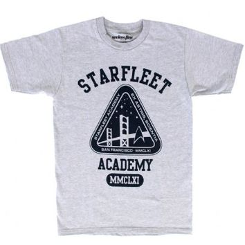 Star Trek Starfleet Academy Crew Adult Heather Gray T-Shirt