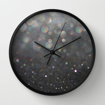 There Can Be No Light (Ombré Glitter Abstract) Wall Clock by soaring anchor designs ⚓ | Society6