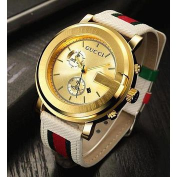 Gucci Classic Fashionable Women Men Cool Quartz Watches Wrist Watch I/A