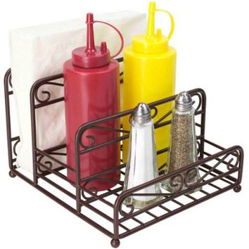 Home Basics Scroll Collection Condiment Caddy, Bronze - Walmart.com