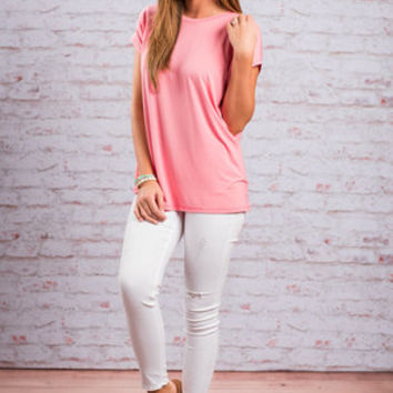 Show Your Soft Side Piko Top, Rose