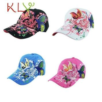 ESBG8W Stylish 2017 4 Colors Summer Embroidered Baseball Cap Fashion Shopping   Duck Tongue dance hat Lady