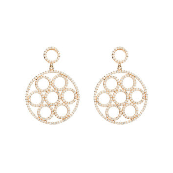 22ct Rose Gold Vermeil Micro pave Olympics Earring