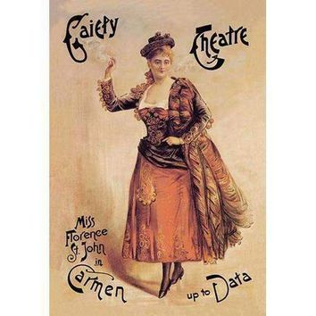 Gaiety Theatre: Miss Florence St. John in Carmen up to Data (Fine Art Giclee)