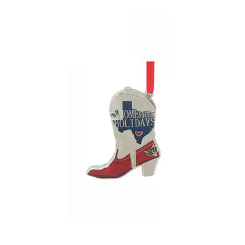 St. Nicholas Square ''Home For The Holidays'' Cowboy Boot Christmas Ornament