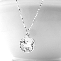 Capricorn Necklace, Sterling Silver