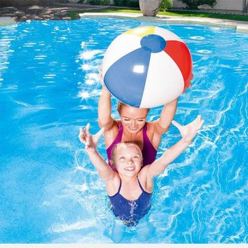 DCCKL72 9'' 23cm Colorful Inflatable PVC Pool Beach Ball Blow up Toy Panel Holiday Party Swimming Garden Toy Summer Hot Sale Toys