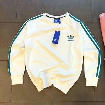 LMFUX5 ADIDAS Woman Men Fashion Sport Round Neck Top Sweater Pullover-2