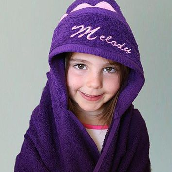 Embroiderable Personalized Baby Hooded Bath Towel  - Made in USA