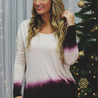 Ombre Lovers Top- Wine