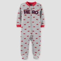 Baby Boys' Firetruck Mommy's Hero Cotton Sleep N' Play - Just One You™ Made by Carter's® Red/Grey